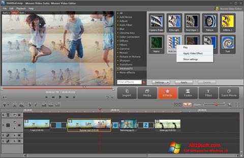 Снимка на екрана Movavi Video Suite за Windows 10