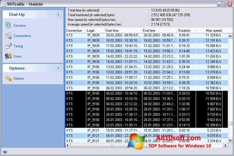Снимка на екрана DUTraffic за Windows 10