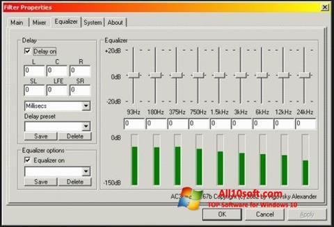 Снимка на екрана AC3 Codec за Windows 10