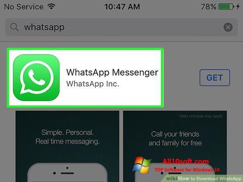 Снимка на екрана WhatsApp за Windows 10
