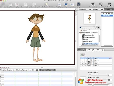 Снимка на екрана Toon Boom Studio за Windows 10