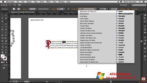 Снимка на екрана Adobe Illustrator за Windows 10