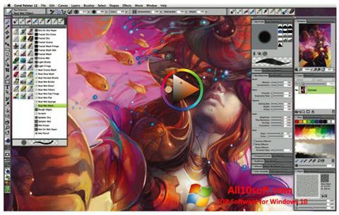Снимка на екрана Corel Painter за Windows 10