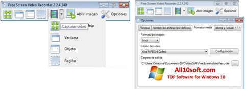 Снимка на екрана Free Screen Video Recorder за Windows 10