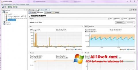 Снимка на екрана Java Virtual Machine за Windows 10