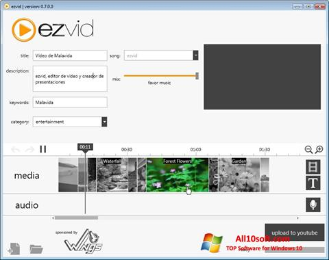 Снимка на екрана Ezvid за Windows 10