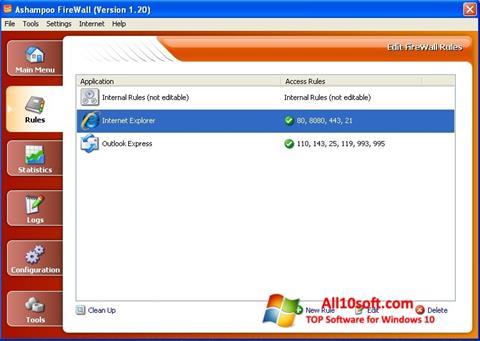 Снимка на екрана Ashampoo Firewall за Windows 10