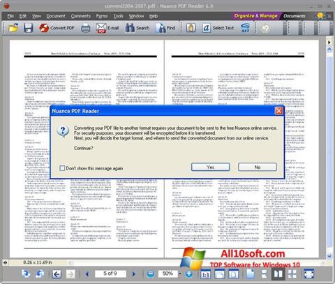 Снимка на екрана Nuance PDF Reader за Windows 10