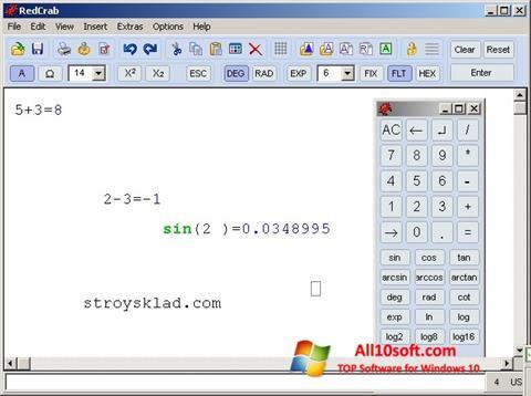 Снимка на екрана RedCrab Calculator за Windows 10