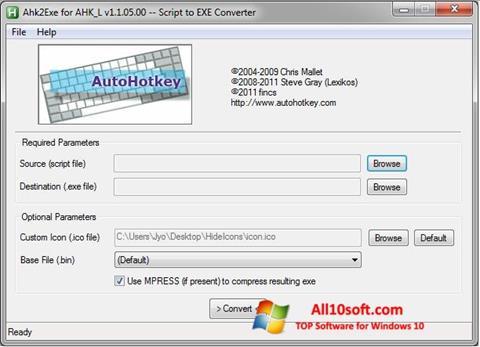 Снимка на екрана AutoHotkey за Windows 10