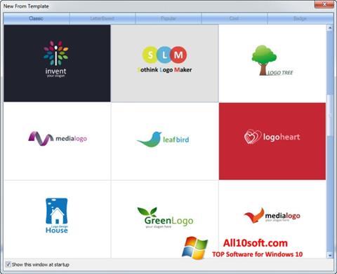 Снимка на екрана Sothink Logo Maker за Windows 10