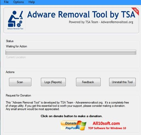Снимка на екрана Adware Removal Tool за Windows 10