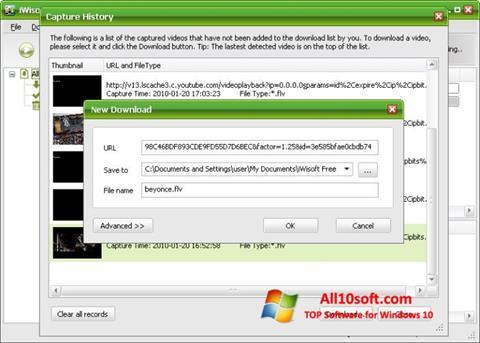 Снимка на екрана Free Video Catcher за Windows 10