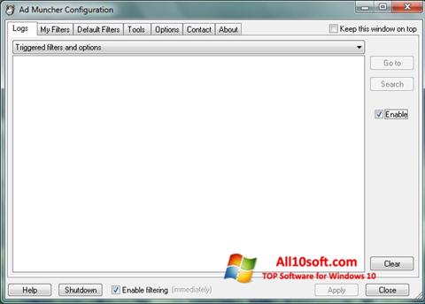 Снимка на екрана Ad Muncher за Windows 10