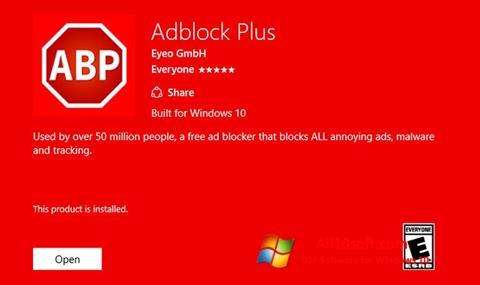 Снимка на екрана Adblock Plus за Windows 10