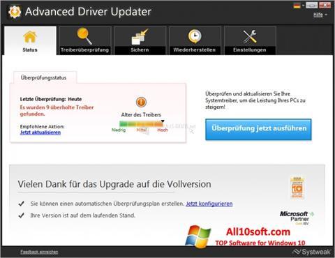 Снимка на екрана Advanced Driver Updater за Windows 10