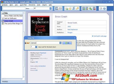 Снимка на екрана All My Books за Windows 10