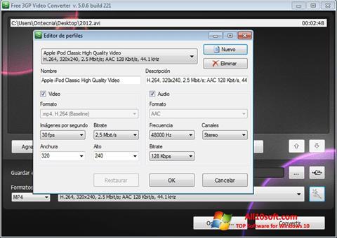 Снимка на екрана Free MP4 Video Converter за Windows 10