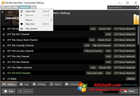 Снимка на екрана Screamer Radio за Windows 10