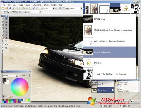Снимка на екрана Paint.NET за Windows 10