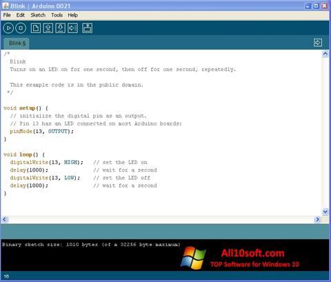 Снимка на екрана Arduino за Windows 10
