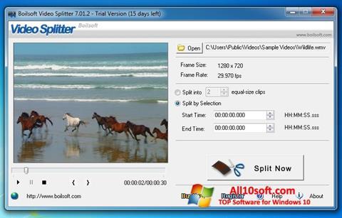 Снимка на екрана Boilsoft Video Splitter за Windows 10